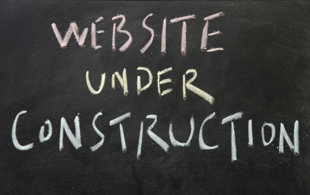 website under construction title Stock Photo - 16536496