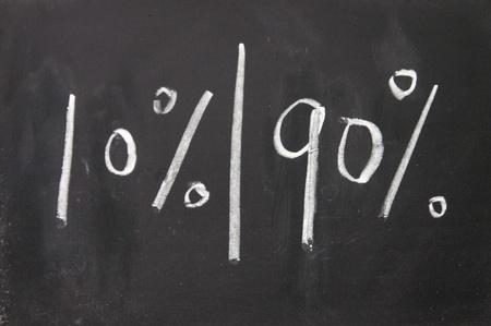majority: Majority and minority Stock Photo