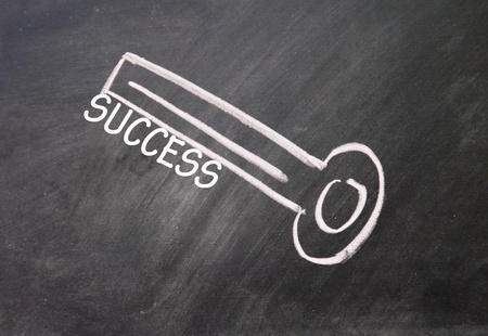 abstract success key drawn with chalk on blackboard Stock Photo - 16613235