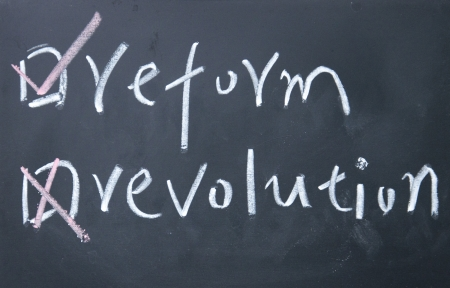 reform or revolution choice  photo