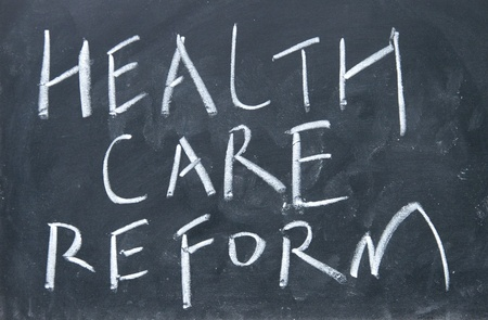 care providers: health care reform sign