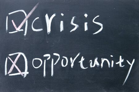 crisis or opportunity choice photo