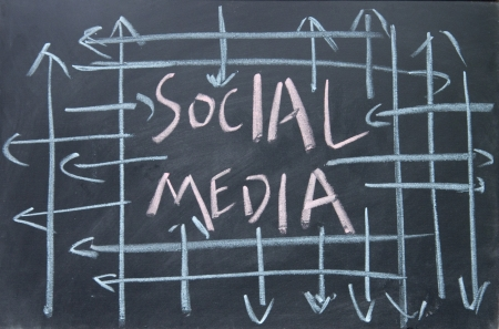 social media sign Stock Photo - 16654874