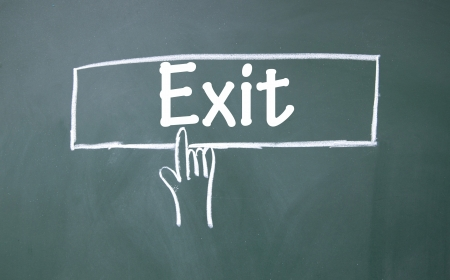 abstract finger click exit sign Stock Photo - 16683562