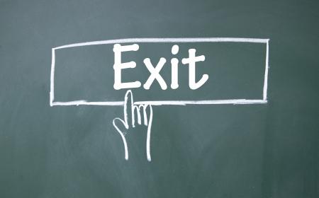 esc: abstract finger click exit sign
