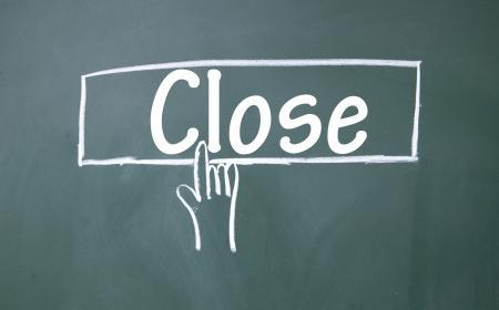 esc: abstract finger click close sign