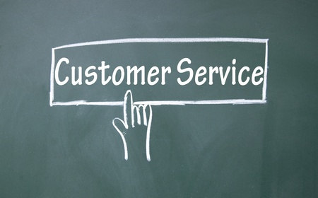 abstract finger click customer service  sign photo