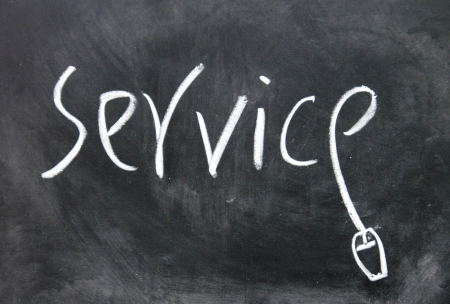 service sign written with chalk on blackboard photo