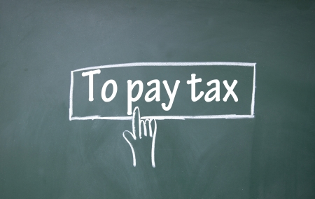 abstract finger click to pay tax sign Stock Photo - 17137799