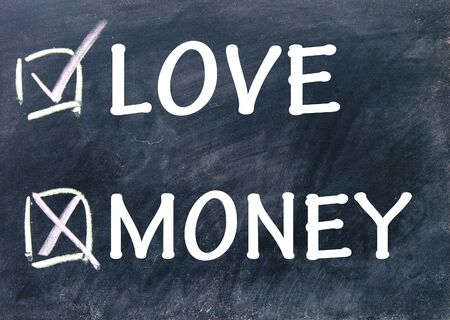 money or love choices photo