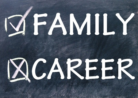 family and career choice photo