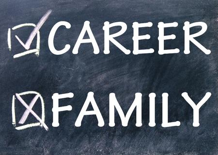 family and career choice photo