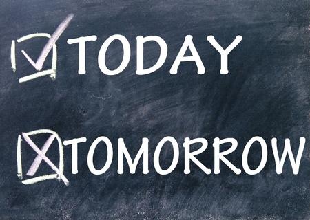 today and tomorrow choice  photo