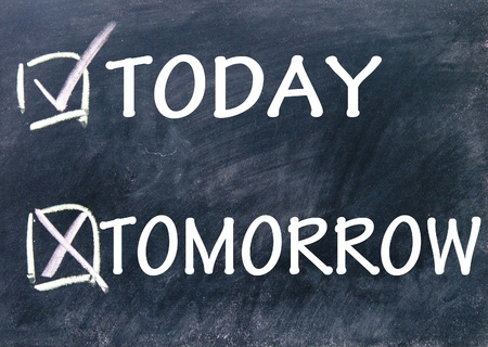 tomorrow: today and tomorrow choice  Stock Photo
