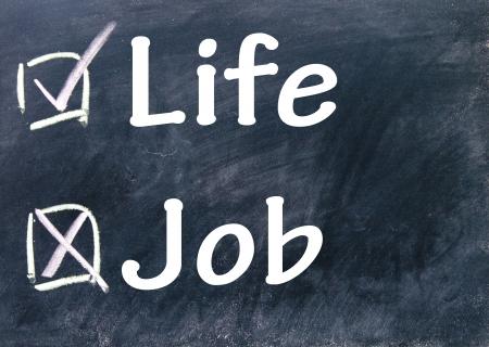 life and job choice Stock Photo - 17104275