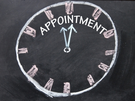 appointment clock sign  photo