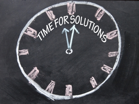 graduation countdown: time for solutions clock sign