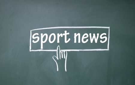 abstract finger click sport news sign Stock Photo - 17159659