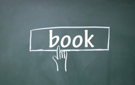 abstract finger click book sign Stock Photo - 17159609