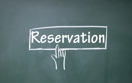 reservation: abstract finger click reservation sign