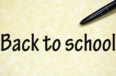 back to school symbol written with pen on paper Stock Photo - 17139312