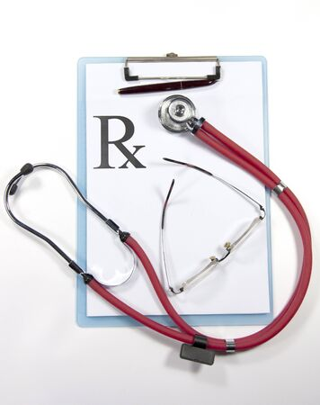 stethoscope and prescription photo