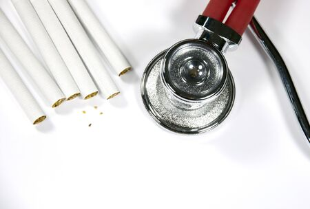 cigaret: Stethoscope and cigarette