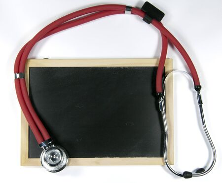 Stethoscope and blackboard Stock Photo - 17156208