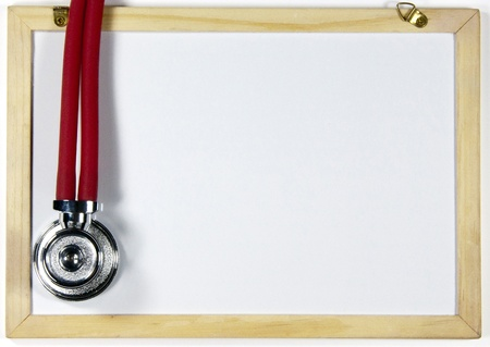 Stethoscope and blackboard photo