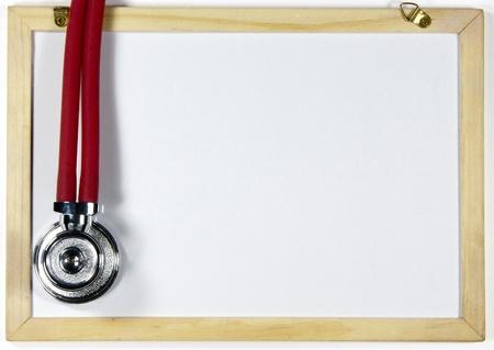Stethoscope and blackboard Stock Photo - 17156186