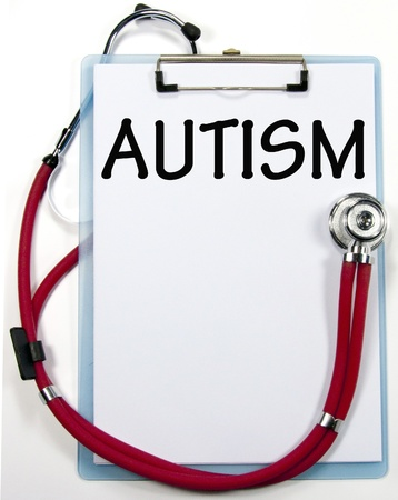 AUTISM diagnosis sign Stock Photo