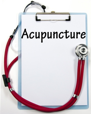 Acupuncture diagnosis sign Stock Photo - 17222112