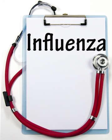 influenza diagnosis sign  photo