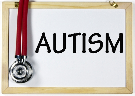 AUTISM diagnosis sign Stock Photo - 17206190