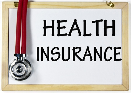 insure: health insurance sign