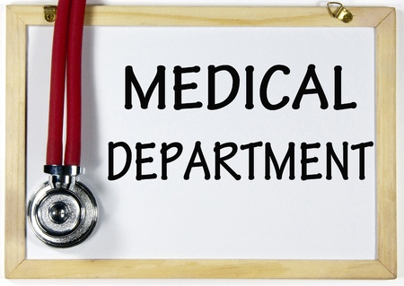 department: medical department sign