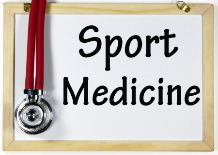 sport medicine sign  Stock Photo - 17223606