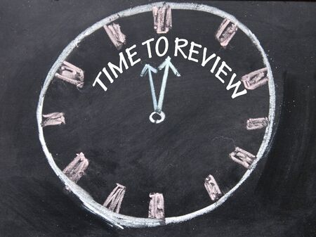 time to review clock sign