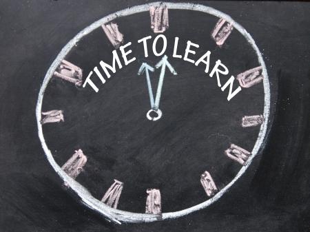 時計サインを学ぶために時間