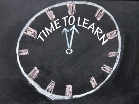time to learn clock sign