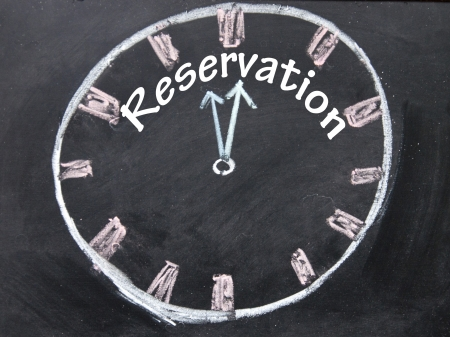 reservation time sign  photo