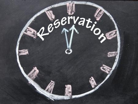 reservation: reservation time sign