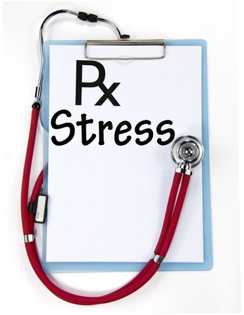 diagnosis: stress diagnosis sign  Stock Photo