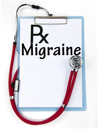 diagnosis: migraine diagnosis sign  Stock Photo