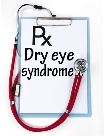 dry eye syndrome sign  photo