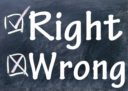 wrong and right choice  photo
