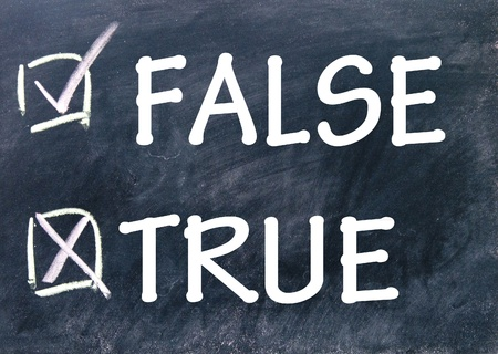 true and false choice photo