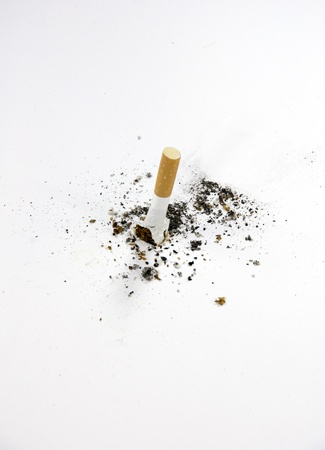 cigaret: Cigarette butt isolated on white