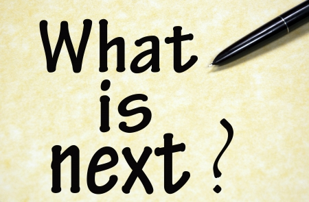 what: what is next title written with pen on paper