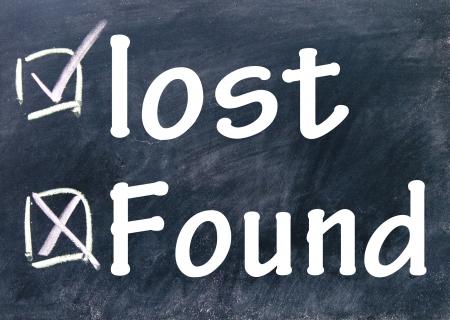 lost and found choice Standard-Bild